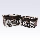 2 Black Zebra Beauty Cases